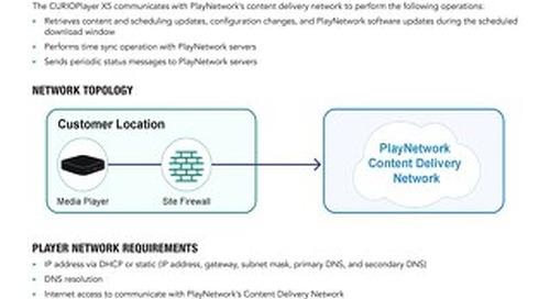 PlayNetwork CURIOPlayerX5 Network Requirements