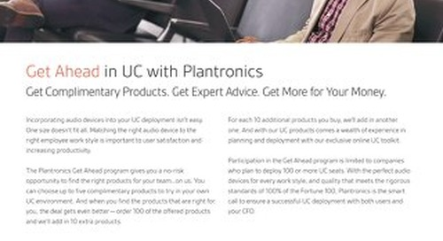 Get Ahead in UC with Plantronics