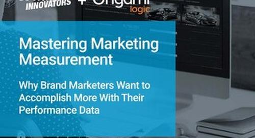 Mastering Marketing Measurement Survey Report