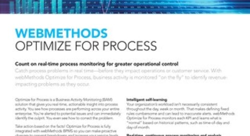 Get the facts about Optimize for Process