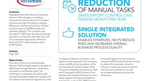 Infineon: ARIS simplifies compliance
