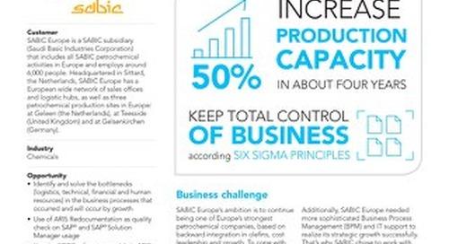 SABIC Europe manages process bottlenecks during rapid growth