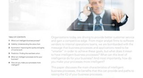 Intelligent Business Processes