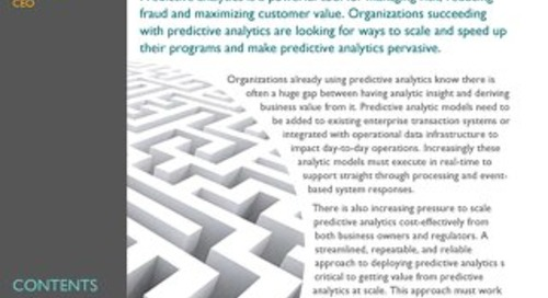 Standards in predictive analytics