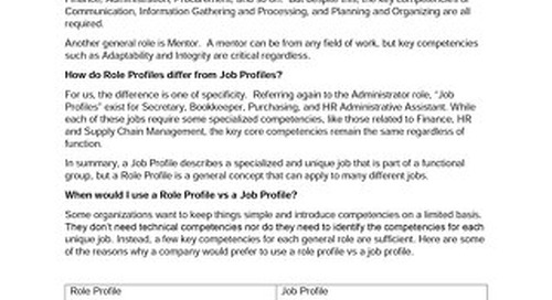 Role vs Job Profiles and When to use each of the Three Packages