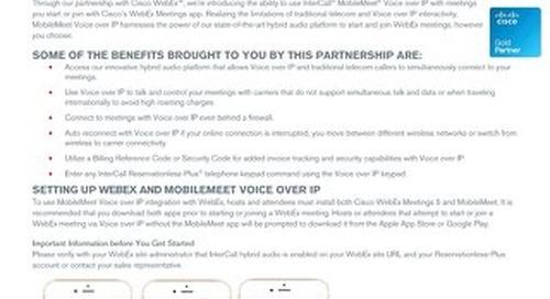 Mobilemeet - VOIP and Cisco Webex Quick Start Guide