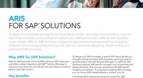 Facts about ARIS for SAP Solutions