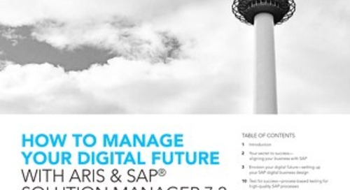 ARIS & SAP® Solution Manager 7.2