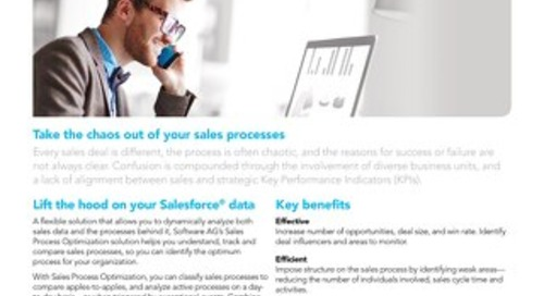 Sales Process Optimization with ARIS Process Performance Manager