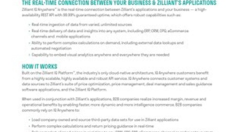 Zilliant IQ Anywhere: AI Software