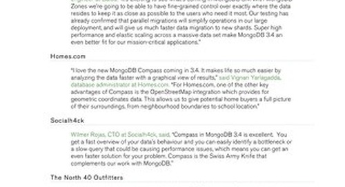 What others are saying about MongoDB 3.4