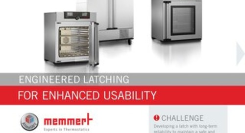 Memmert & Southco: Engineered Latching for Enhanced Usability