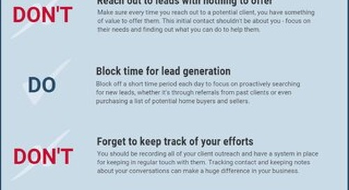 [Infographic] Do's & Don'ts for Real Estate Pros