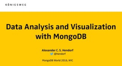 Data Analysis and Visualization with MongoDB
