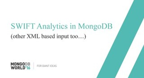 SWIFT Analytics in MongoDB