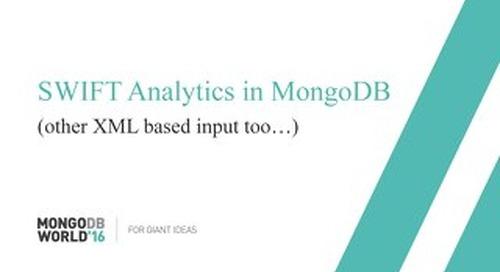 SWIFT Analytics in MongoDB