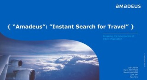 Instant Search for Travel