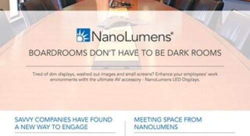 NanoLumens for Boardrooms