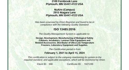 [Certificate] ISO Certificate 13485:2003