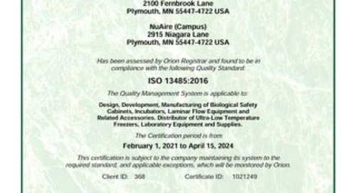 [Certificate] ISO Certificate 13485:2016