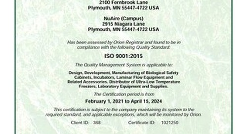 [Certificate] ISO Certificate 9001:2015