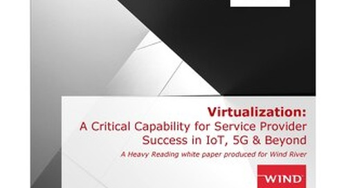Virtualization: A Critical Capability for Service Provider Success in IoT, 5G & Beyond