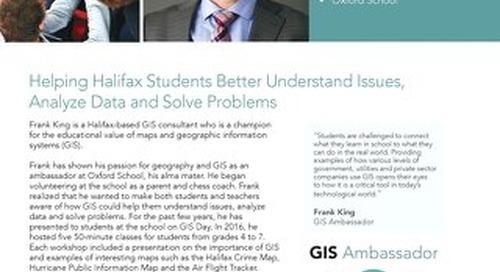 GIS Ambassador Profile: Frank King