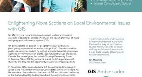 GIS Ambassador Profile: Ian Manning