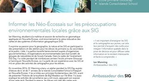 Profil d'un ambassadeur des SIG : Ian Manning