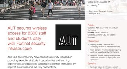 Auckland University Technology  Secures Wireless Access for 8300 Staff and Students
