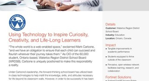 Waterloo Region District School Board Using Technology to Inspire Curiosity