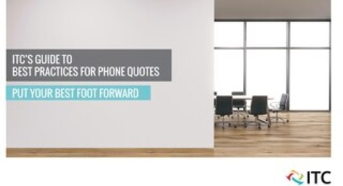 ITC's Guide to Best Practices for Phone Quotes