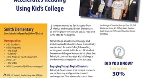 Student Profile: Johnathan's Story – Smith Elementary, San Antonio
