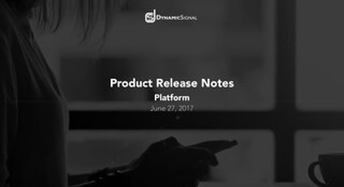 Product Release Notes June 27, 2017