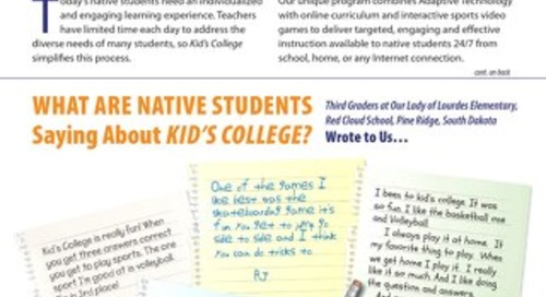 Native Ed Programs – WY and SD Success Story