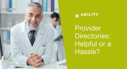 Provider Directories: Helpful or a Hassle?