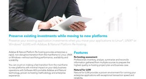 Adabas & Natural Platform Re-hosting