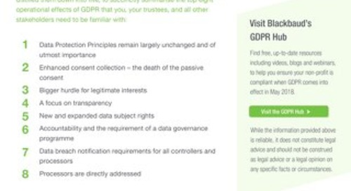 Important Impacts of GDPR