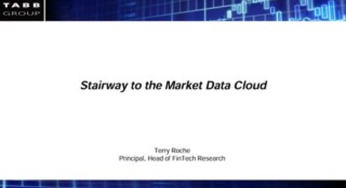 TABB Group: Moving Market Data to the Cloud