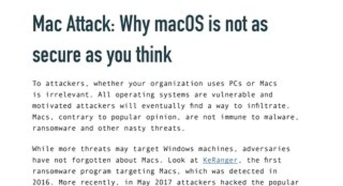 Mac Attack Why the Mac OS is Not as Secure as You Think