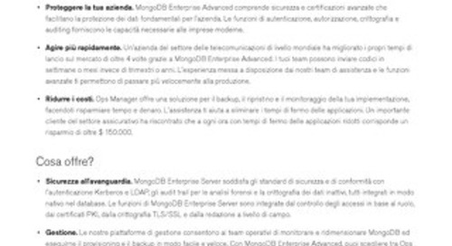 MongoDB Enterprise Advanced Datasheet