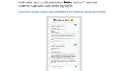 How to Use Glanceback