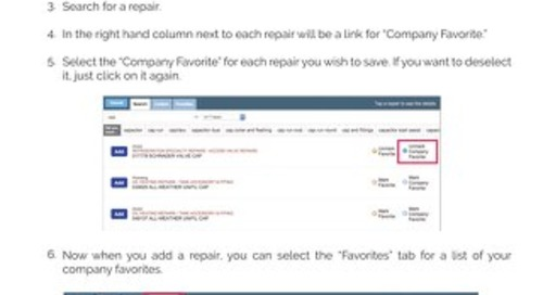 Coolfront Mobile - How To Set Company Favorites