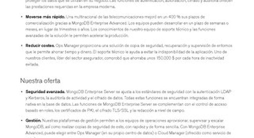 MongoDB Enterprise Advanced: Ficha técnica