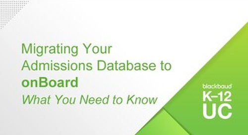 Migrating Your Admissions Database to onBoard