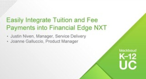 Easily Integrate Tuition and Fee Payments into Financial Edge NXT