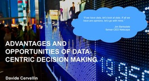 Data Centric Decision Making - Davide Cervellin