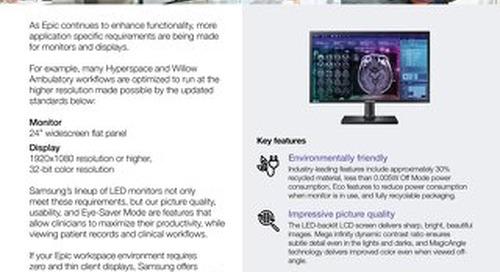 Samsung Monitors for Healthcare