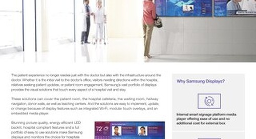 Samsung Displays in Healthcare