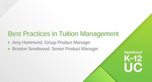 Best Practices in Tuition Management